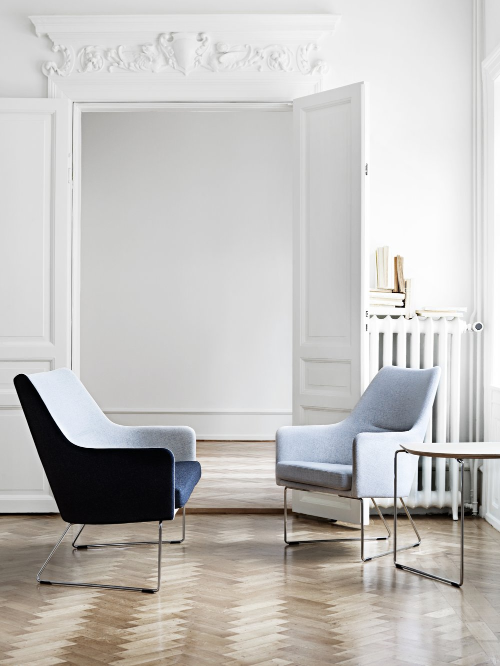1200 Easy Low Back Chair with Chrome Legs