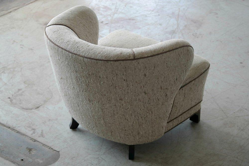 Viggo Boesen Attributed Lounge Chair 1940s Danish, Mid-Century