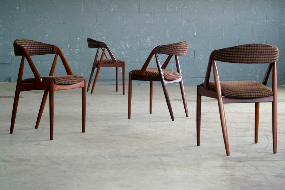 Four Kai Kristiansen Model 31 Dining Chairs in Teak