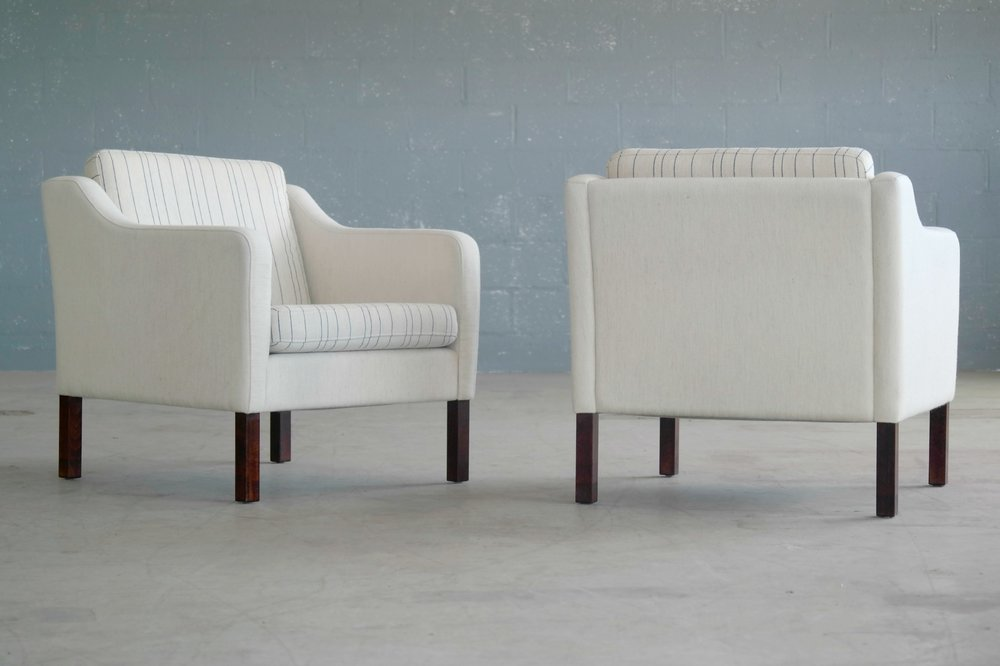 Pair of Borge Mogensen Style lounge chairs by Mogens Hansen
