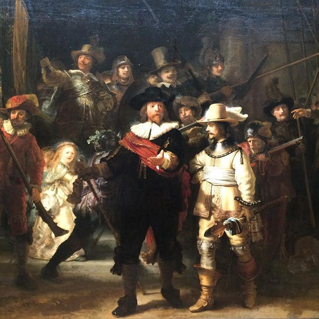 Accompanied by the Night Watch tonight #nachtwacht #rembrandt #rijksmuseum #amsterdam #philips