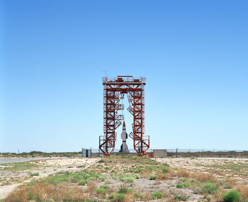 Launch Pad and Gantry with Hermes A-1 Rocket, V2 Launch Complex 33