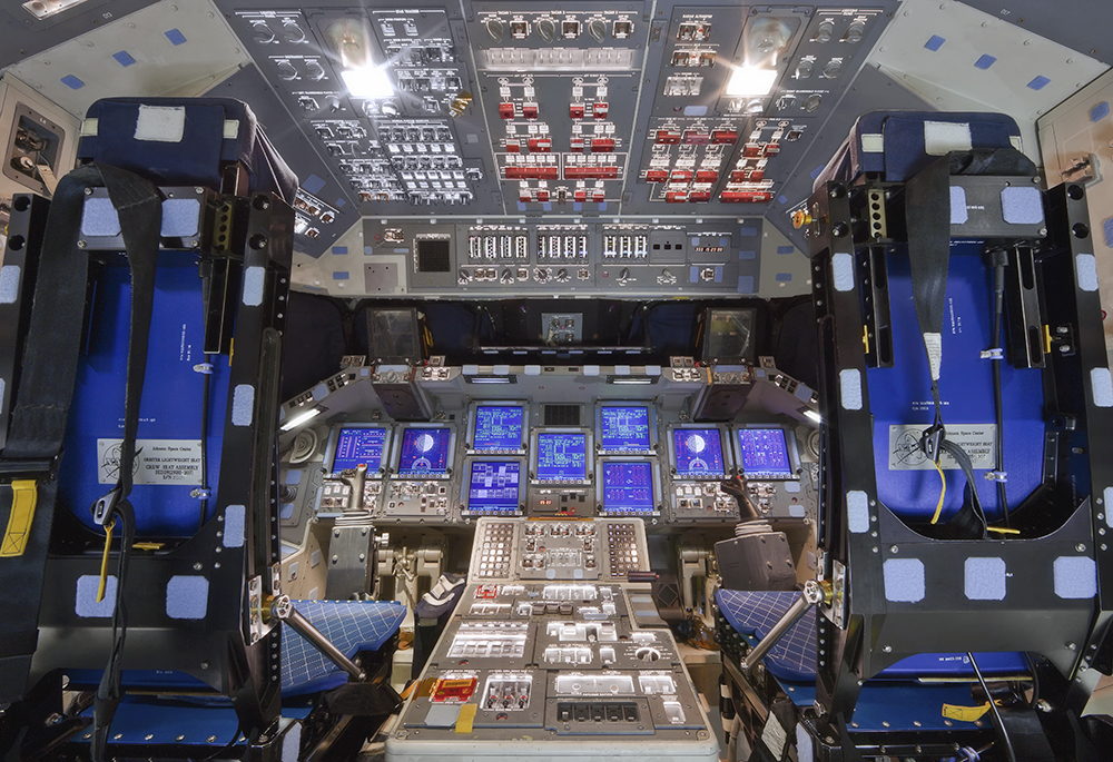 Flight Deck, Space Shuttle Discovery