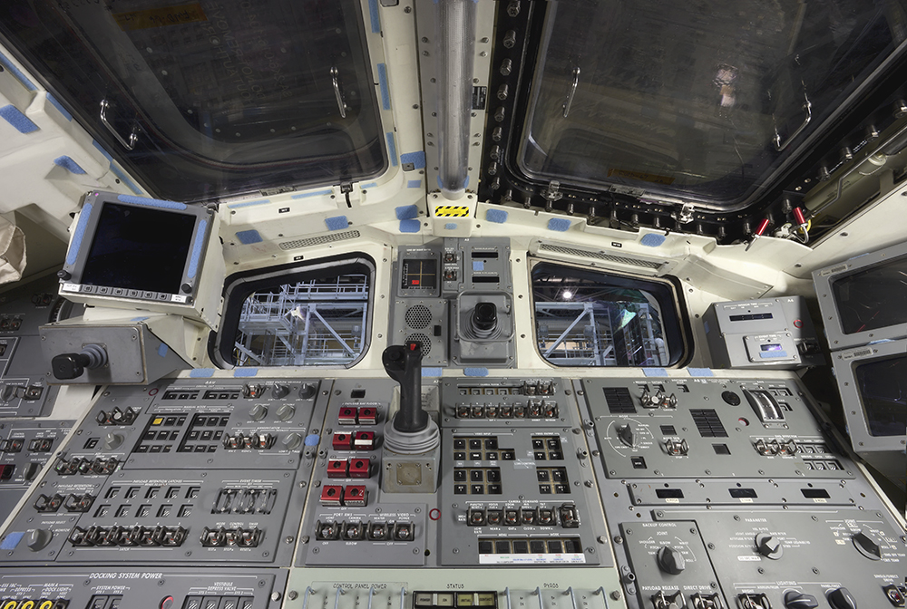 Space Shuttle Atlantis Rear Flight Deck