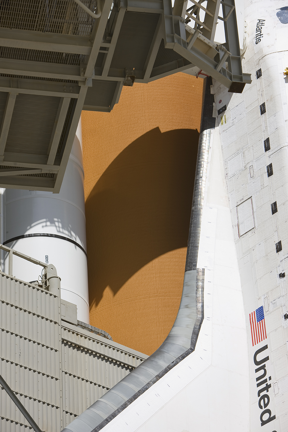 Detail, Space Shuttle Atlantis, Pad 39A, STS-125
