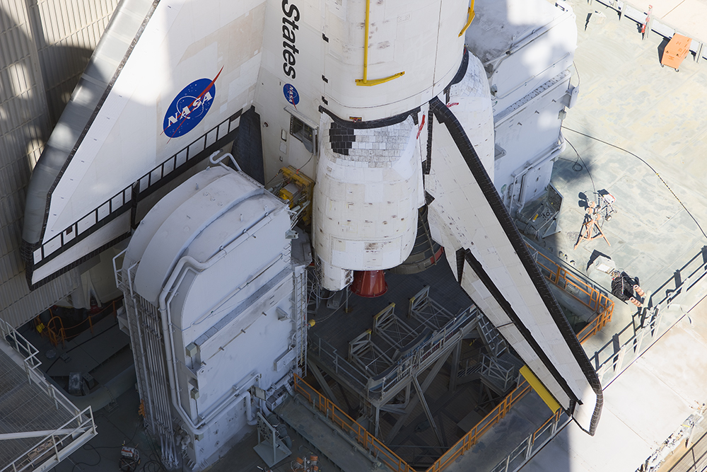 Space Shuttle Atlantis on Mobile Launch Platform