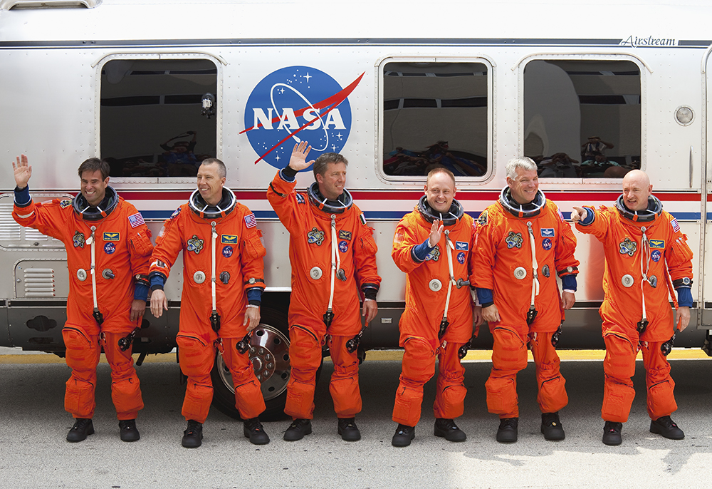 STS-134 Crew Walkout (1st Attempt)