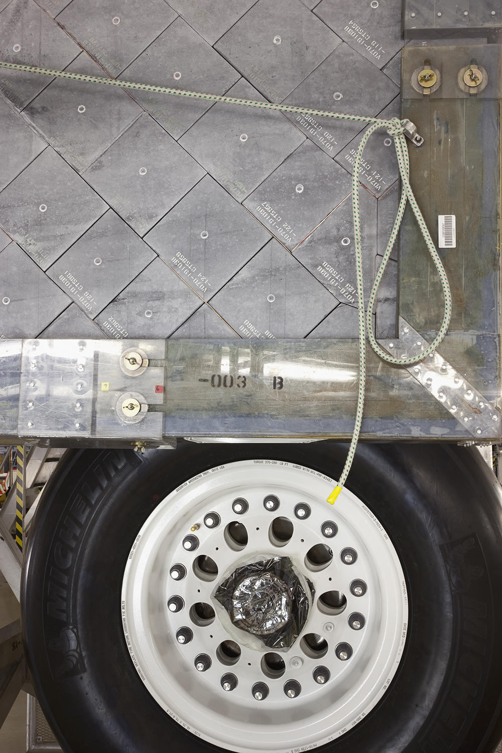 Space Shuttle Endeavour Tire and Landing Gear Door