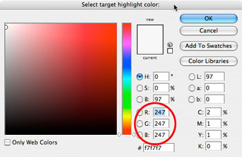 - White Point Color Picker