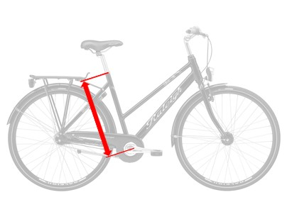 The Seat Tube length is used to define bike size.