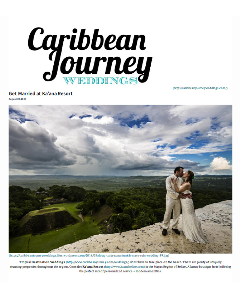 Caribbean Journey Weddings August 2014
