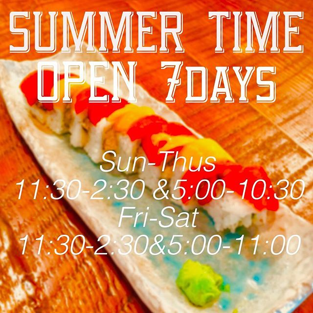 Summer time is applied from today. ☀️🌴🌻 We are open for 7 days a week now😊🍣🎣 Reservation📲604-428-5700 . . . . #zipangprovisions #7days #summertime #mountpleasant #vancouver #vancity #vaneats #vancitybuzz #vanlife #van #explorebc #igersvancouver #vancouverisawesome #vancouverfoodie #vancouvereats #vancouverfood #foodbeast #yvreats #dishedvan #eatcouver #igvancouver #huffpostgram #yvr #604 #vancouverstyle #vancityeats #vancityhype #vancouverbc #バンクーバー