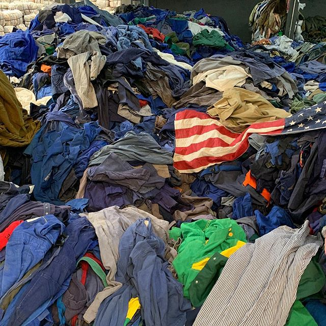 Digging into a mountain of clothing in is 40 degrees inside