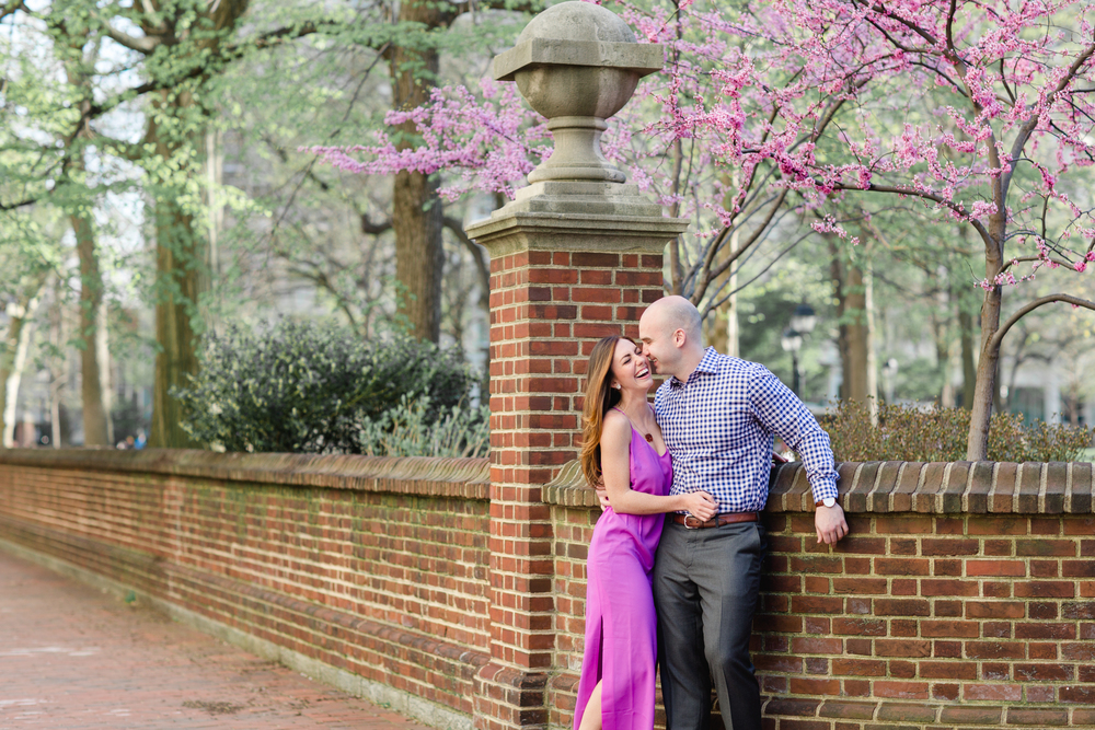 Philadelphia Engagement Photos Cherry Blossom Session