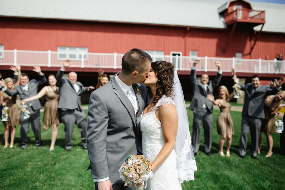 Bridal party at Friedman Farms
