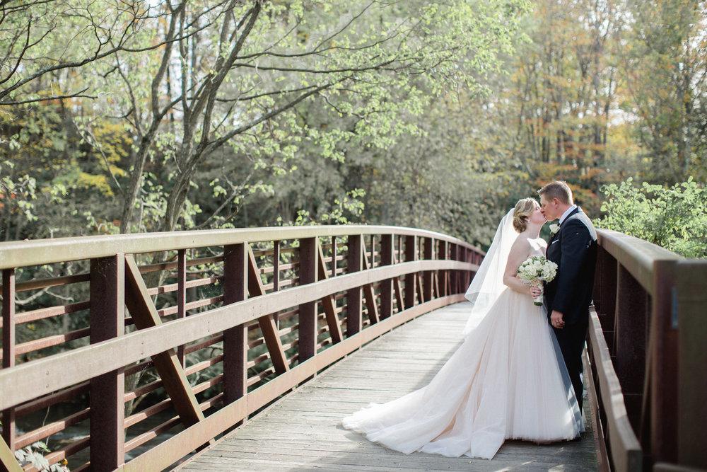 Scranton PA Wedding Photographer Fall Wedding Blush Wedding Dress