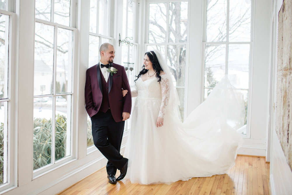 Winter wedding at the Tripp House in Scranton