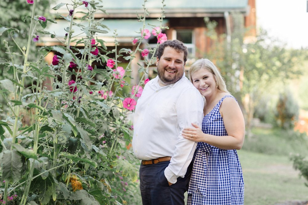 Fox Hill Farm Garden Engagement Session