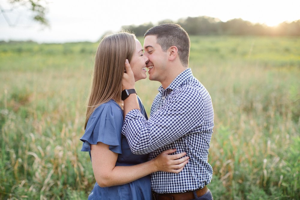 Scranton PA Summer Engagement Session_0031.jpgA sunset summer engagement session with neutrals and greenery