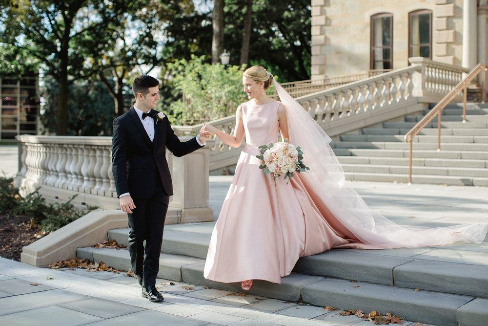 Scranton Cultural Center Wedding Blush Wedding Dress