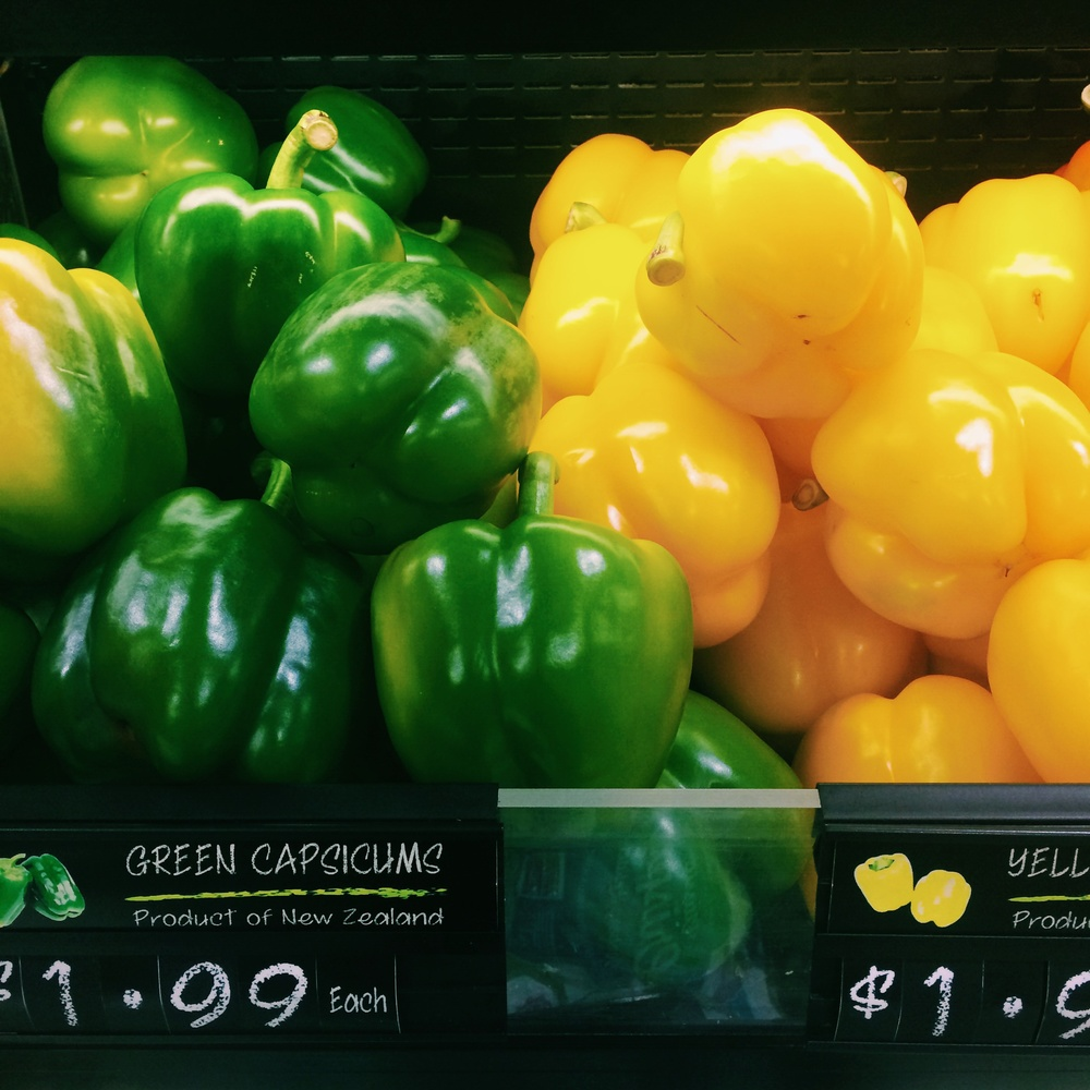 "Green & Yellow ""capsicums"""