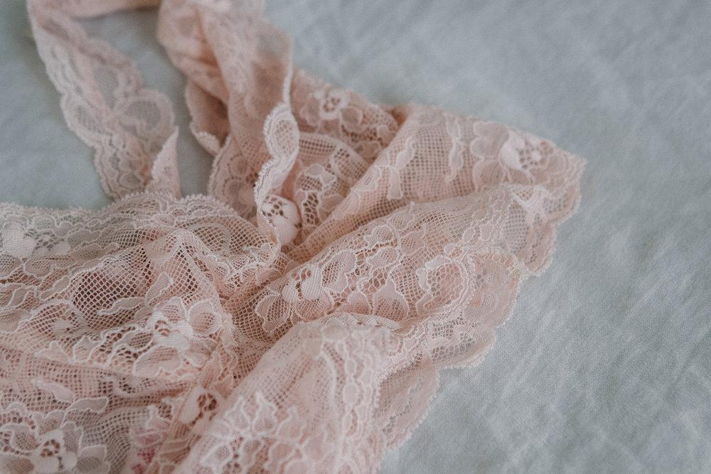 Handmade underwear by  Brighton Lace.