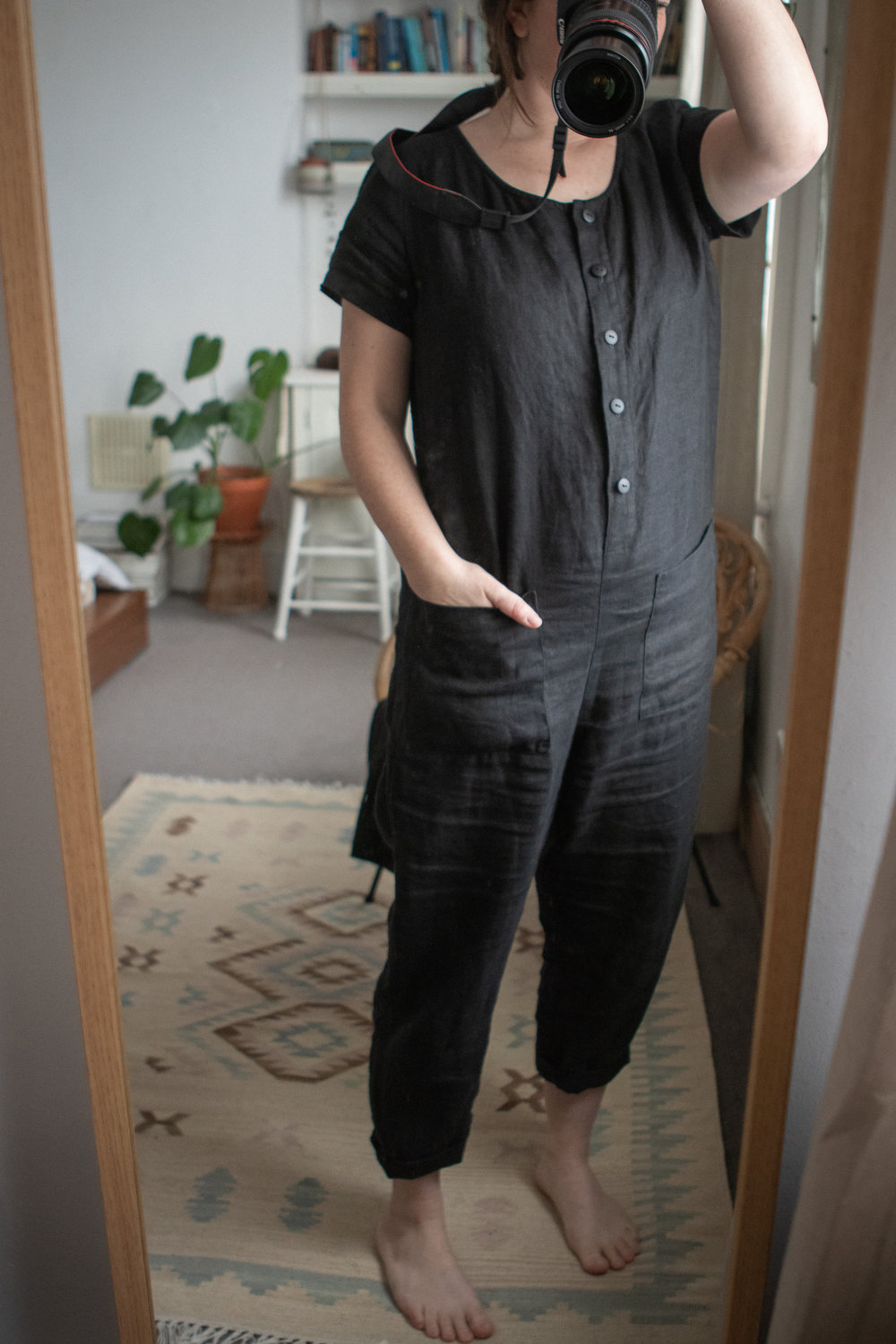 Linen jumpsuit by  OffOn Clothing