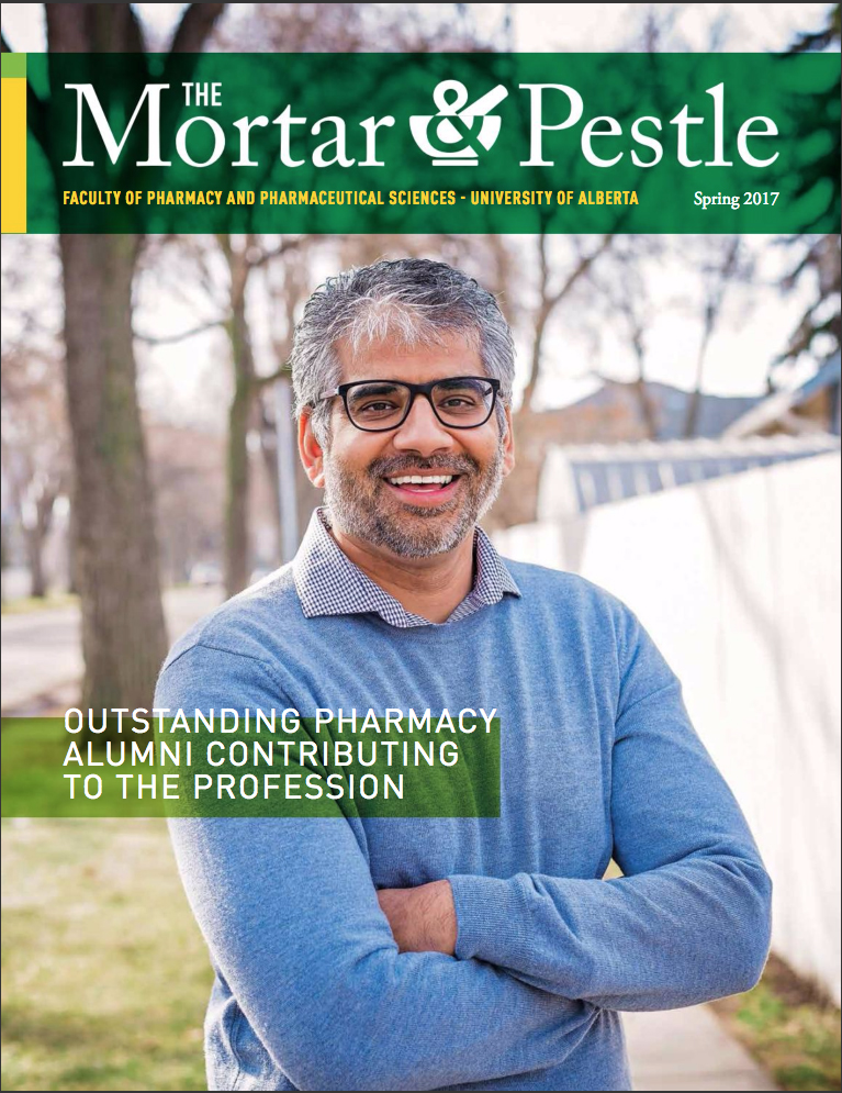 Mortar and Pestle Magazine Cover-U of A Pharmacy