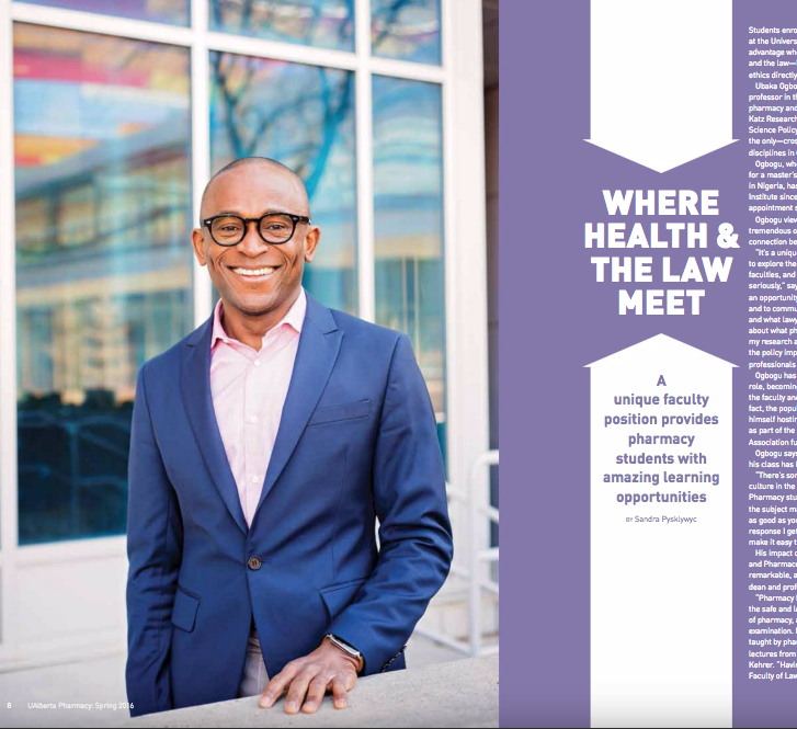 U of A Pharmacy Mag - Utaka Ogbogu (Profile)