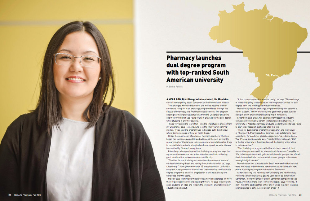 U of A Pharmacy Magazine - Liz Monteiro