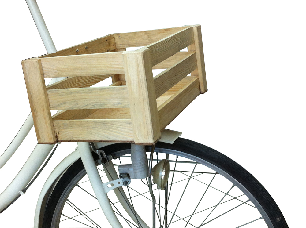 Wooden boxes are cool, but heavy. They work best if you are using your Charicycle for display purposes only.