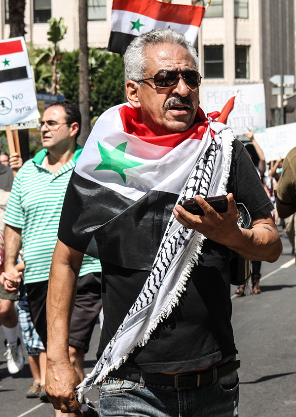 """2013 """"Hands-Off-Syria"""" Protest, Los Angeles"""