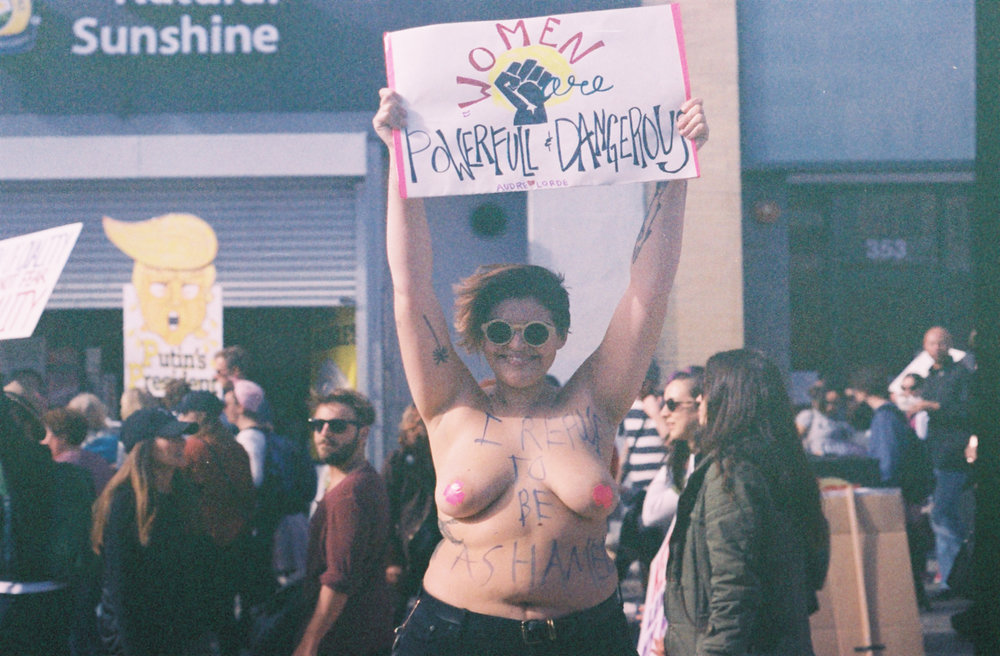 women's march, los angeles, 2017. the power, the freedom of self-empowerment.