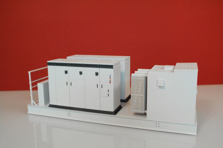 Tradeshow display model, power conversion susbstation, KACO Energy