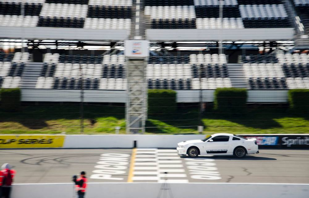 PetrolWerks  Shelby GT500 blasting down the front straight at a SlipStream Roll-Racing Event.  Photo by  Logan Warfield .