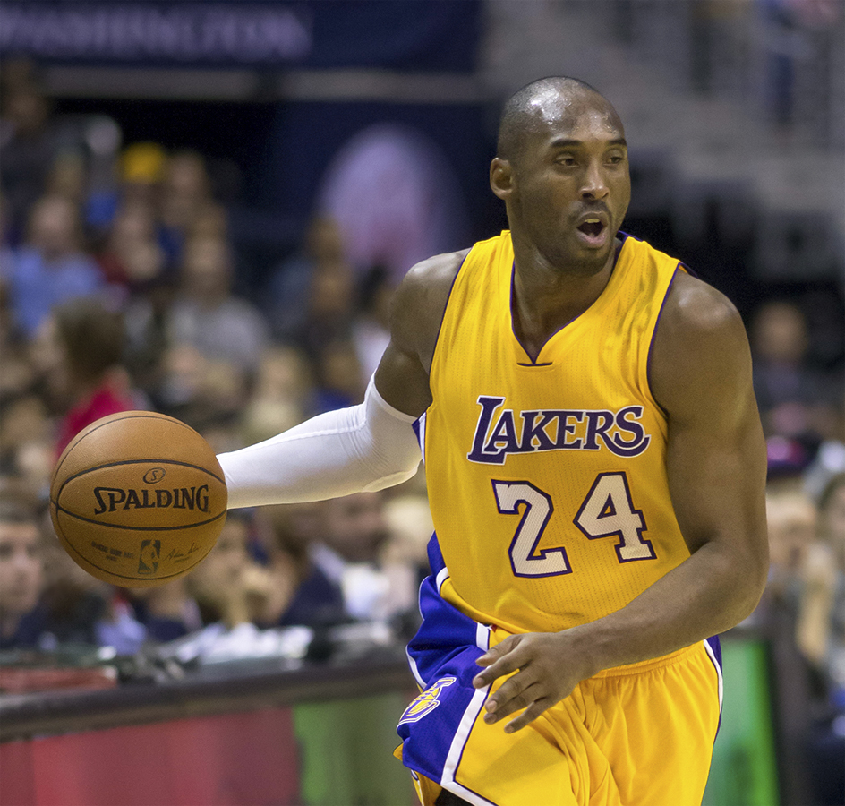 "NBA star Kobe Bryant's abilities are often described as ""superhuman."" (Keith Allison 