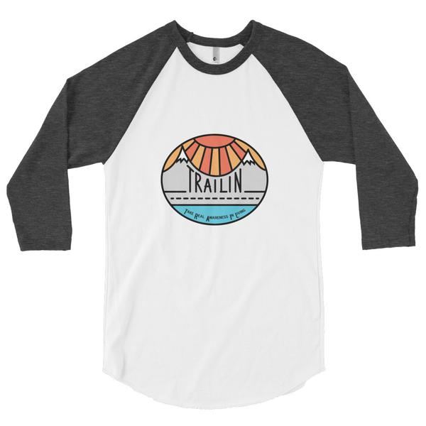 TRAILin - Baseball Jersey 3/4 sleeve unisex raglan shirt $26.00