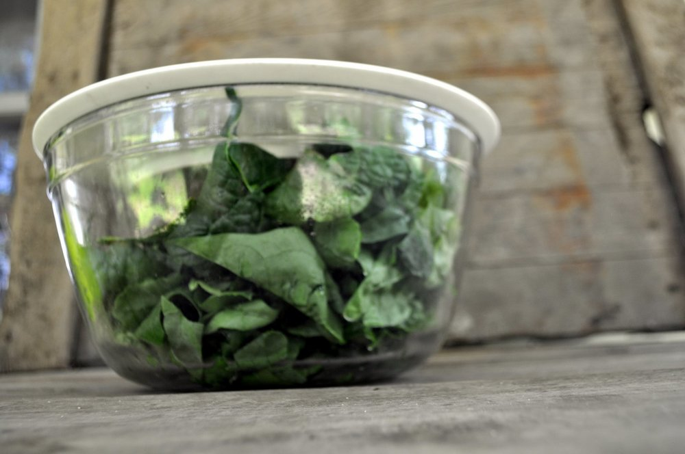 Glass tupperware is fine for holding leftovers, but when I'm going through any amount of bulky greens, I find big glass salad bowls to be an enormous boost.