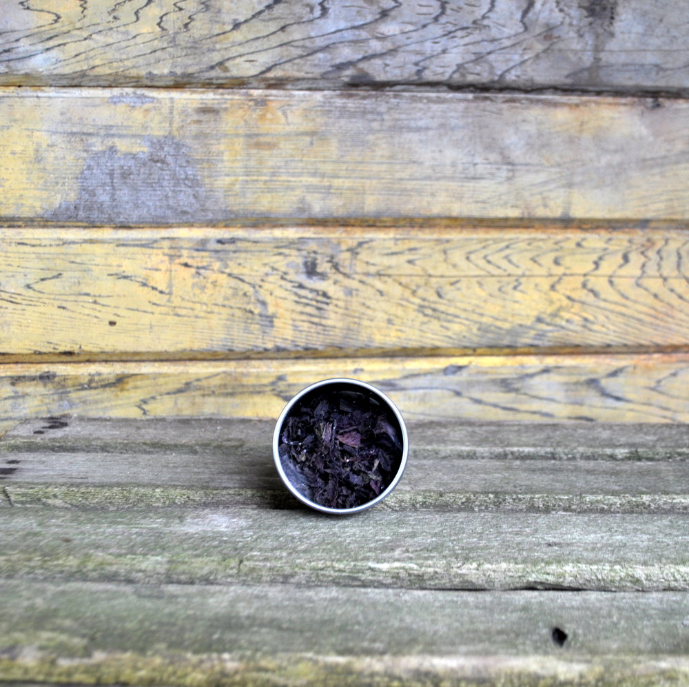 PURPLE SHISO TEA - 4 OZ - $6  Organic purple shiso and organic purple basil. Makes about 24 6 oz cups of tea.