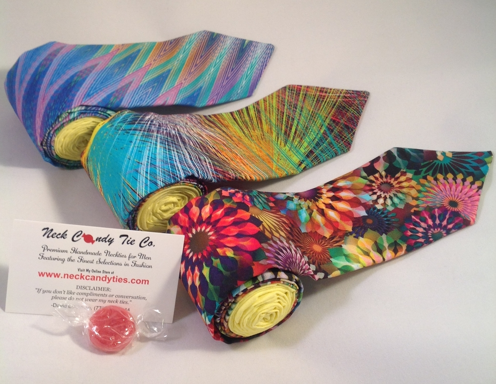 Lasers, Kaleidoscopes, and Strobes! Shop our newest ties today!