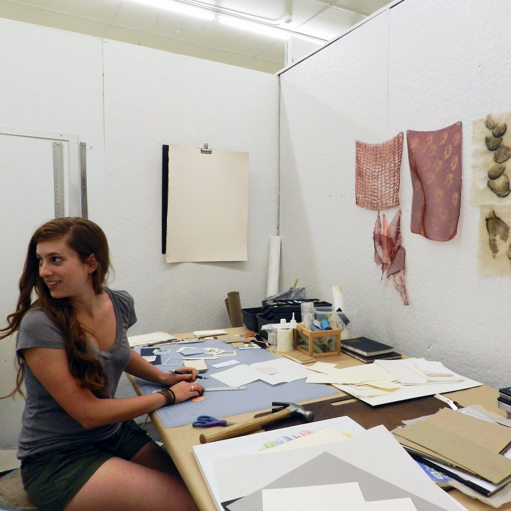 Emerging Artist Residency - The EAR was a key component of Grin City since 2006. We provided college-aged artists a 1-month residency, stipend, and gallery show. This was the first non-college art experience for many of them.