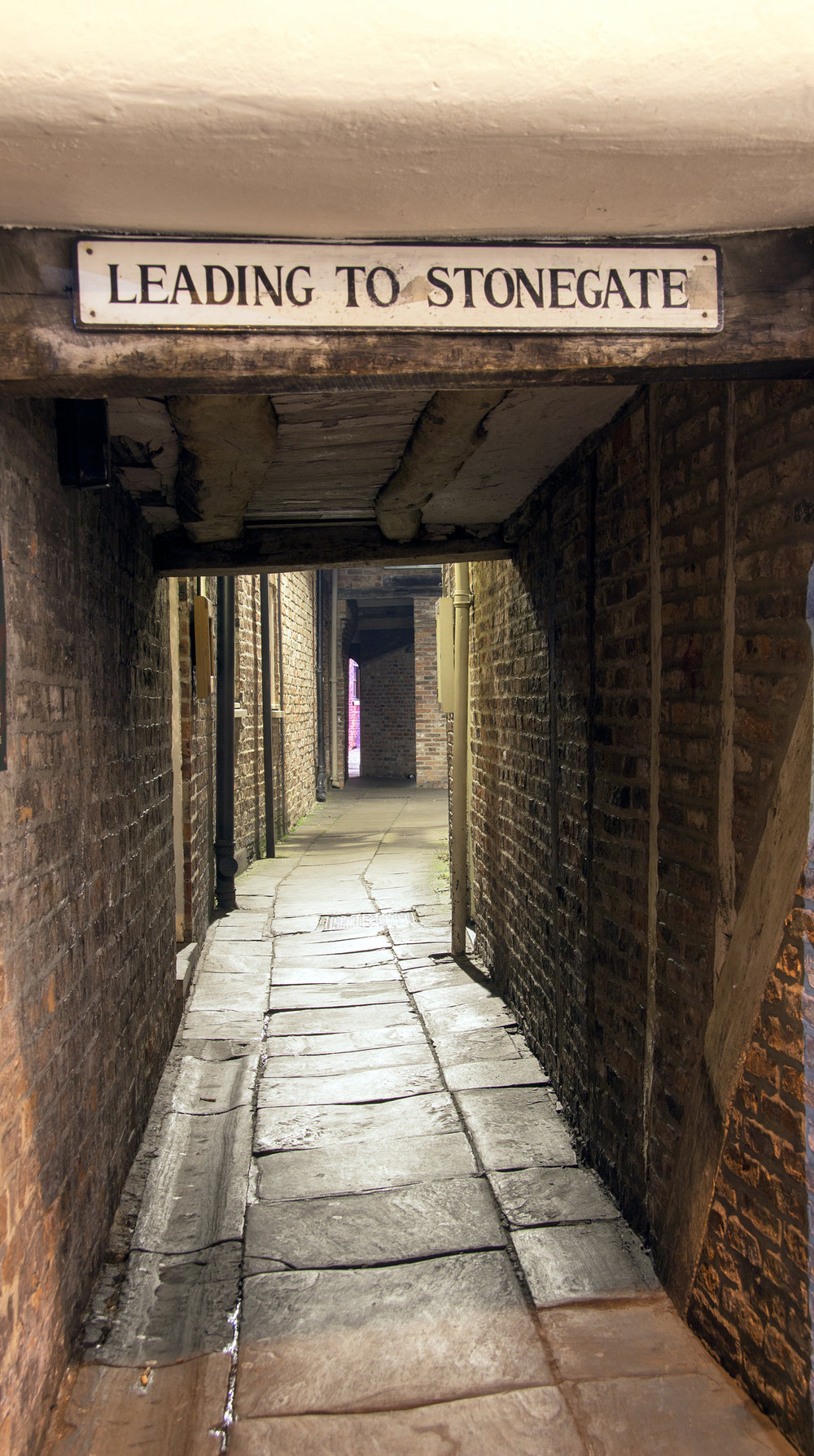 A well used snicketway between Grape Lane and Stonegate