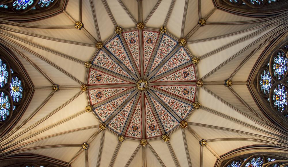 York Minster Chapter House ceiling