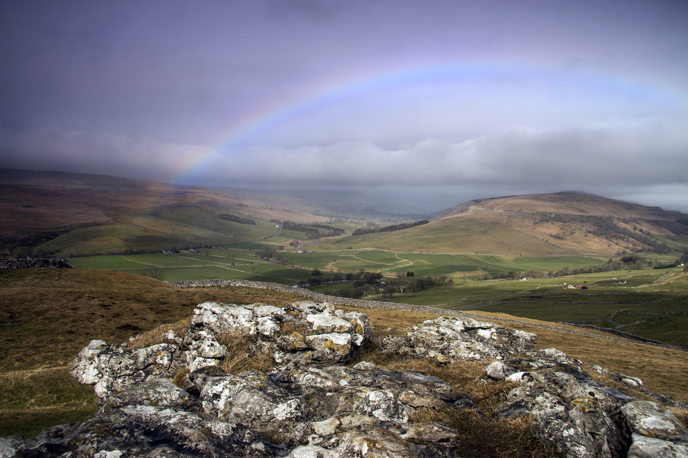 rainbow over Littondale