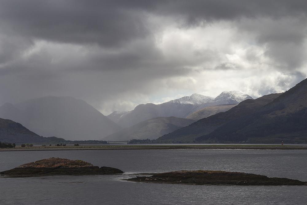 It seems to be raining on Loch Leven