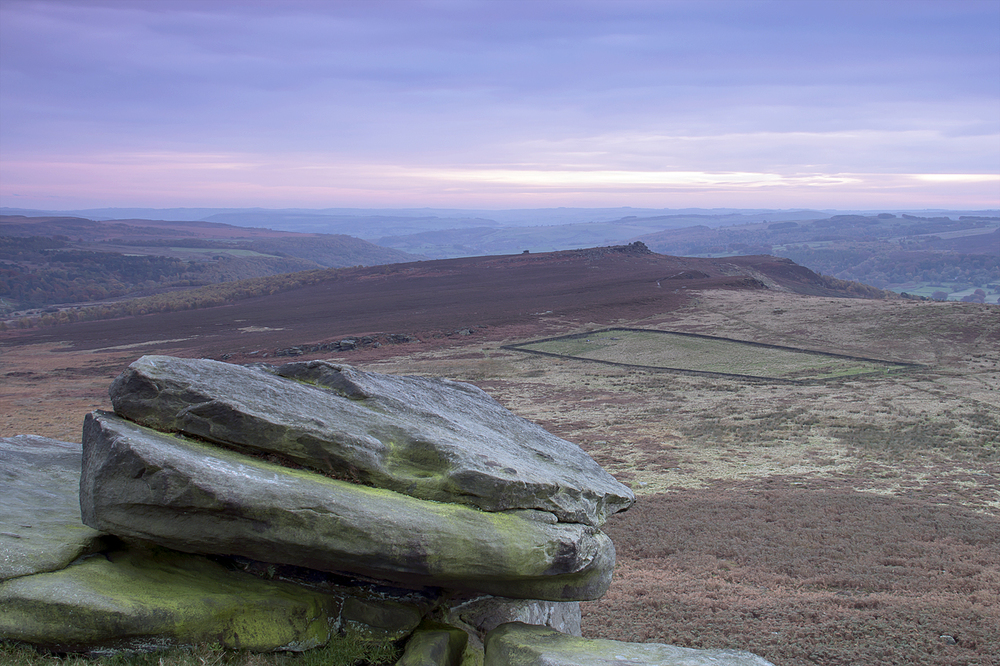 Evening over Hathersage Moor - Higger Tor