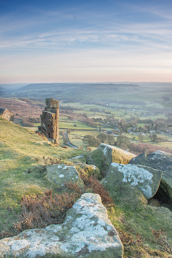 Early Evening at Curbar Edge