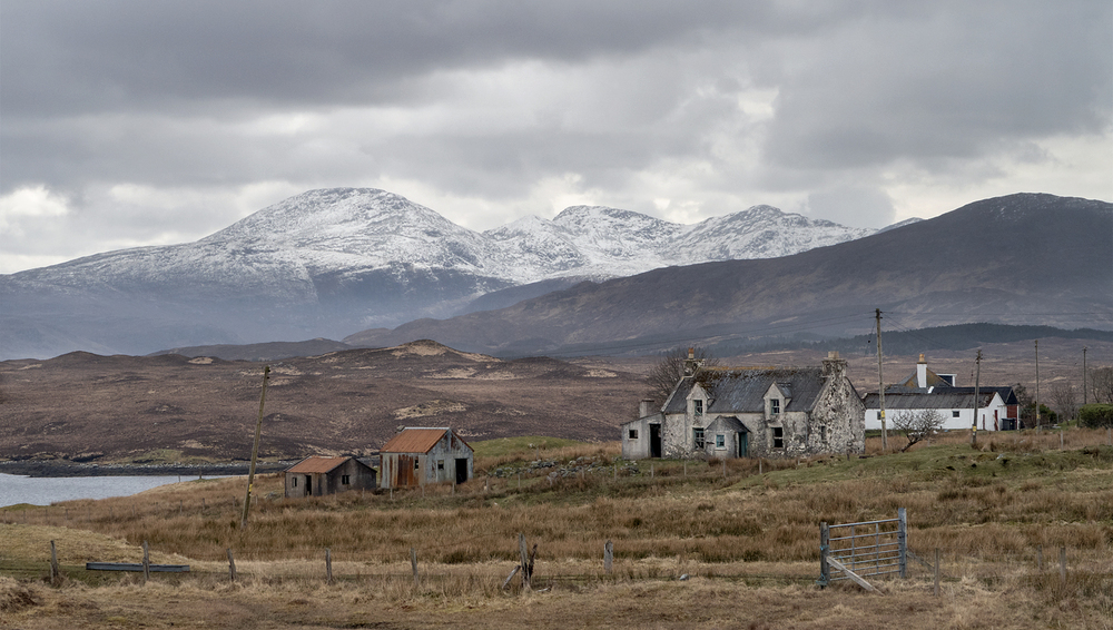 snowy mountains of North Harris