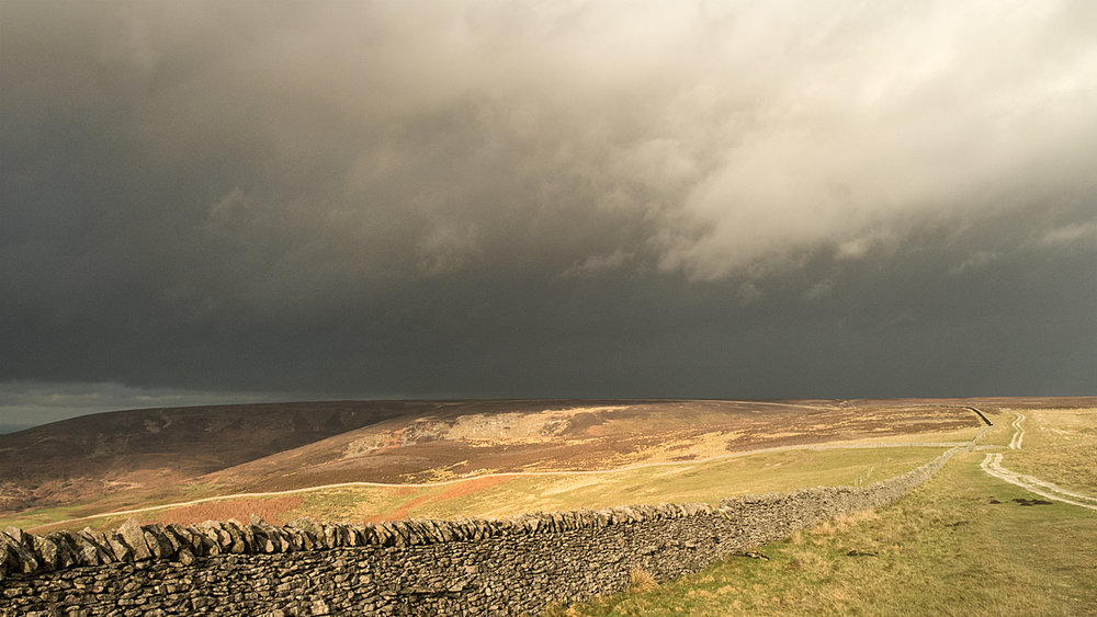 Incoming rain on Kepwick Moor