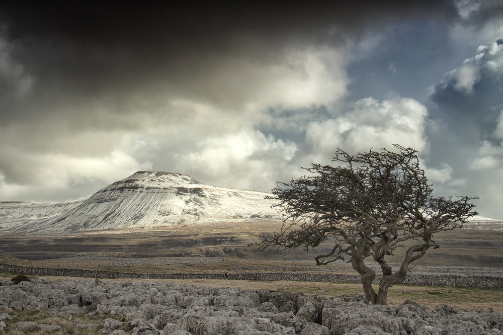 Snow on Ingleborough